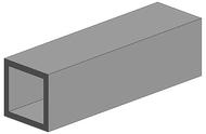 Evergreen 254 - Tube carré 2 pièces - 6,3 X 6,3 mm
