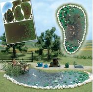 Busch 1210 - Etang de jardin miniature 1:87 - HO