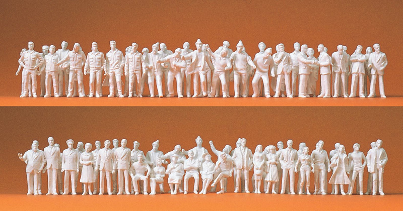 Preiser 74090 - 190 figurines miniatures à peindre 1:100