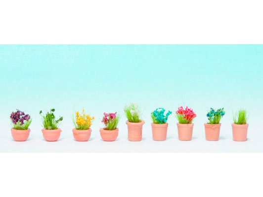 Végétation miniature : Fleurs, petits pots - 1:160 - Noch 14084