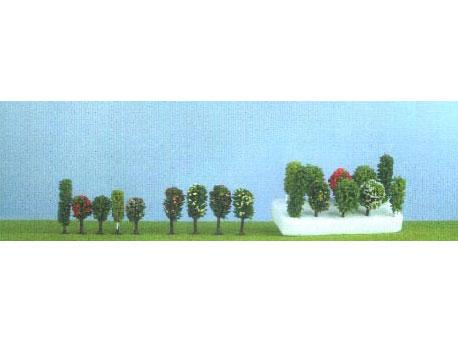 JORD-6 - 5 arbres miniatures de 5 à 6.5 cm - échelle Z