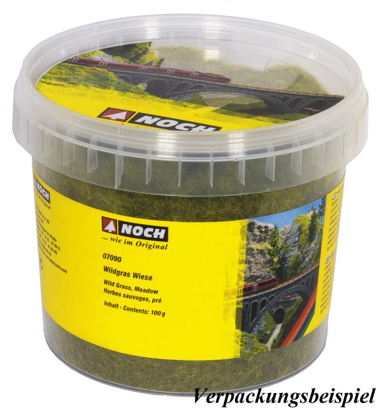Végétation miniature : Herbes sauvages vert clair, 6 mm - Noch 7092