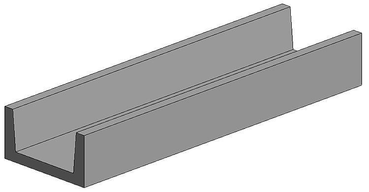 Evergreen 264 - U profil 4 pièces  - 3,2 mm