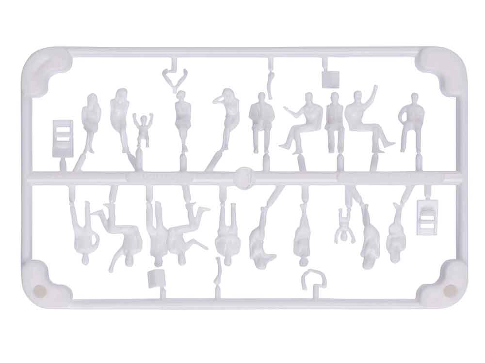 20 Personnages assis 3D 1:100
