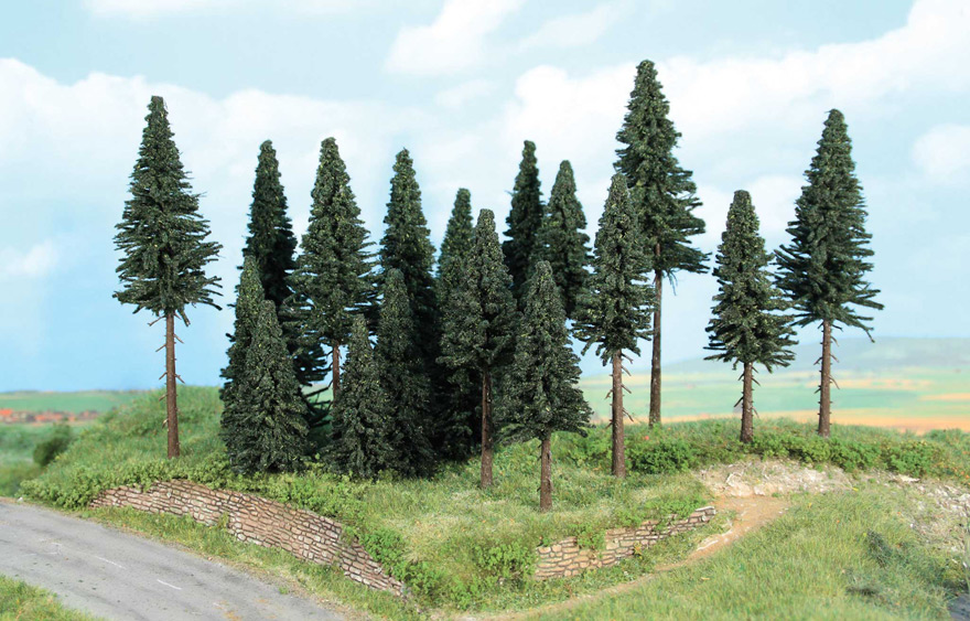 Végétation miniature - Forêt de 20 sapins 7 - 14 cm - Heki 2263
