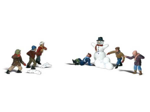Enfants à la neige 1:87 - Woodland A1894