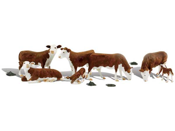 Vaches miniatures 1:43 - Woodland A2767