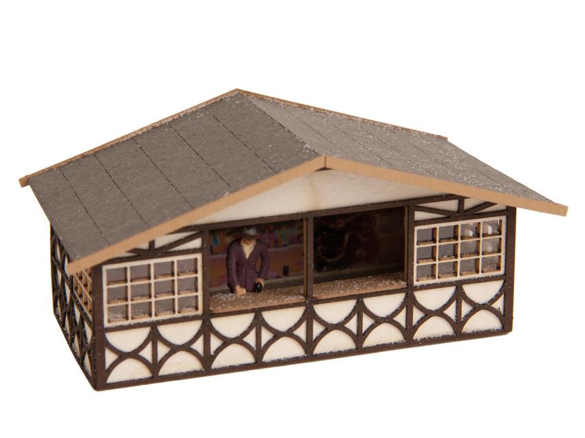 Décor miniature : Stand de marché de noël - 1:120 TT - Noch 14482