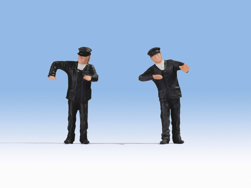 Personnages miniatures : Conducteurs de locomotive à vapeur - 0 - Noch 17810