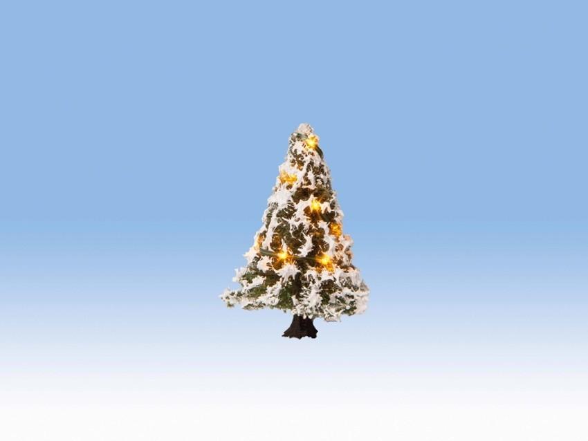 Végatation miniature : Arbre de Noël illuminé 5 cm 10 leds - 1:87, 1:120, 1:160 - Noch 22110