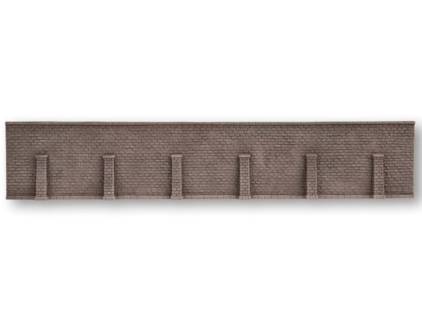 Décor ferroviaire : Mur de soutènement super long 66 cm x 12,5 cm - 1:87 H0 - Noch 58275