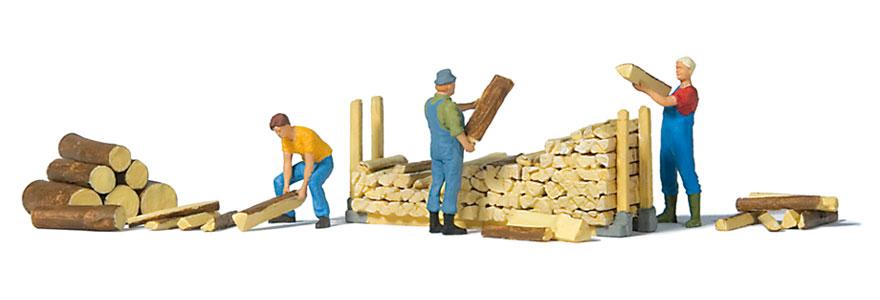 Preiser 10707 - Personnages miniatures : Rangement du bois 1:87