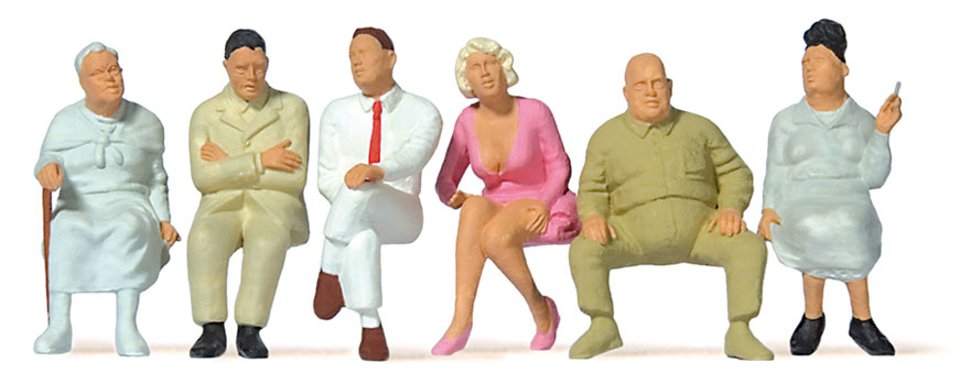 Preiser 65500 - Figurines miniatures : Voyageurs assis 1:43 - 1:45