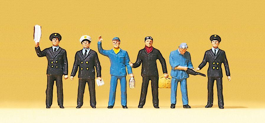 Personnages miniatures : Cheminots français - 1:87 H0 - Preiser 10086