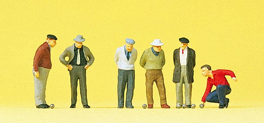 Figurines miniatures : Joueurs de pétanque - 1:87 H0 - Preiser 10508