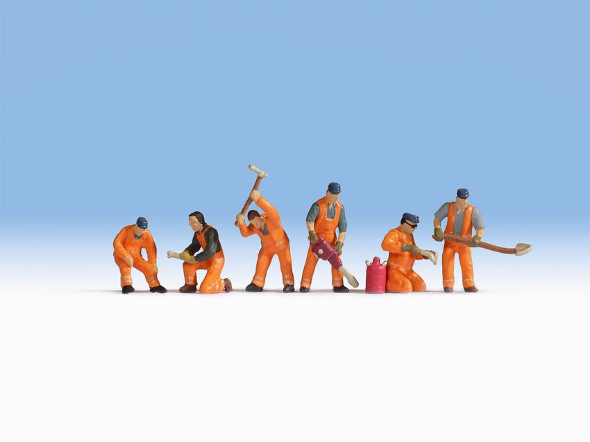 Figurines miniatures : Equipe de poseurs de voies  1:87 - Noch 15276