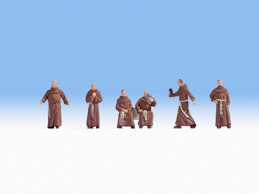 Figurines miniatures : Moines  1:87 - Noch 15401