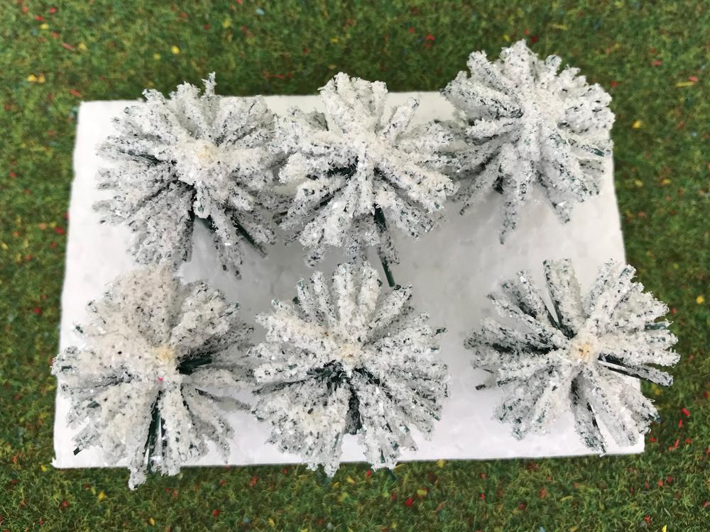 6 arbustes enneigés 3 cm