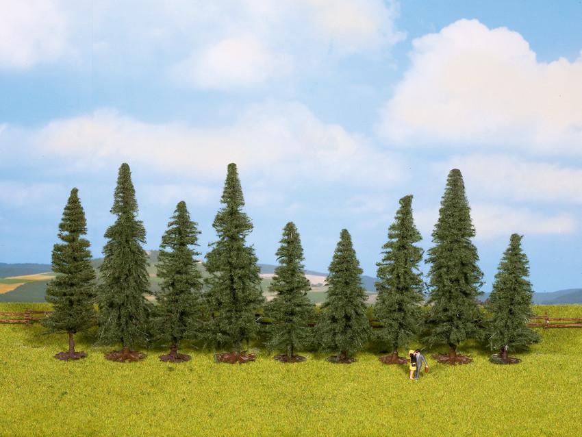 Végétation miniature : 9 Sapins 8 - 12 cm - Noch 25086