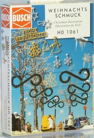 Accessoires miniatures : Décorations de Noël - 1:87 HO - Busch 01061 1061