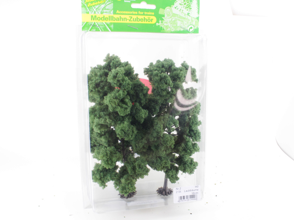 2 Arbres miniatures à feuilles 18 cm 1:87 - Jordan 2
