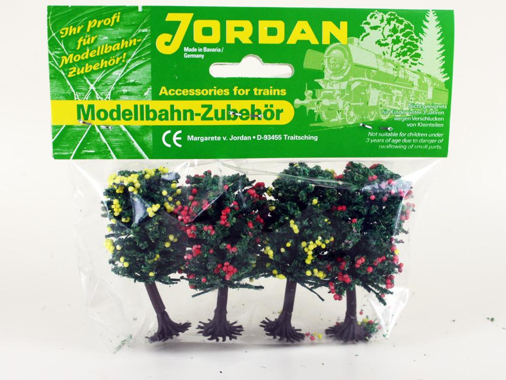 4 arbres fruitiers miniatures 6 cm, 1:160 N - Jordan 6A