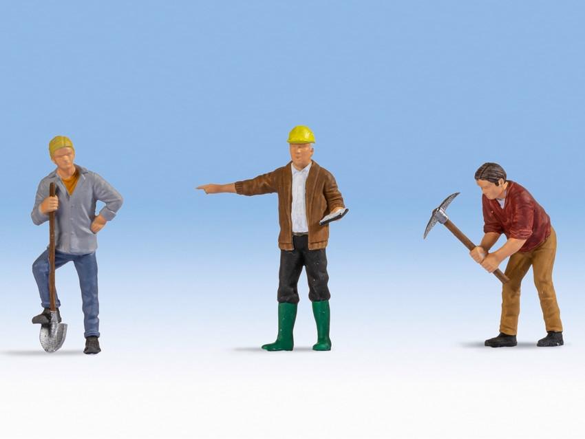 Personnages miniatures : Ouvriers du bâtiment - 0, 1:42,5 - Noch 17830