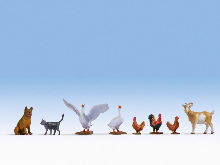 Figurines miniatures : Animaux de la ferme - 0, 1:42,5 - Noch 17903