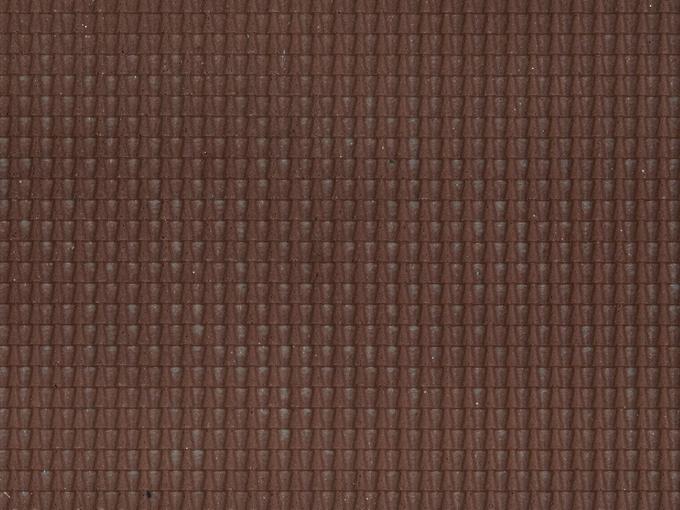 Décors miniatures : Tuiles romaines rouge foncé - 1:87 HO - Noch 60351