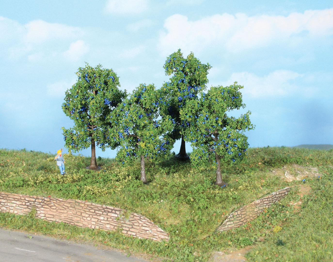 Végétation miniature : Pruniers 6 + 9 cm - Heki 19114