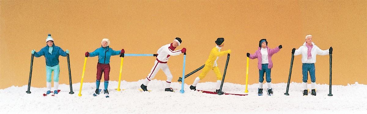 Figurines plastique : Skieurs de fond 1:87 - Preiser 10312