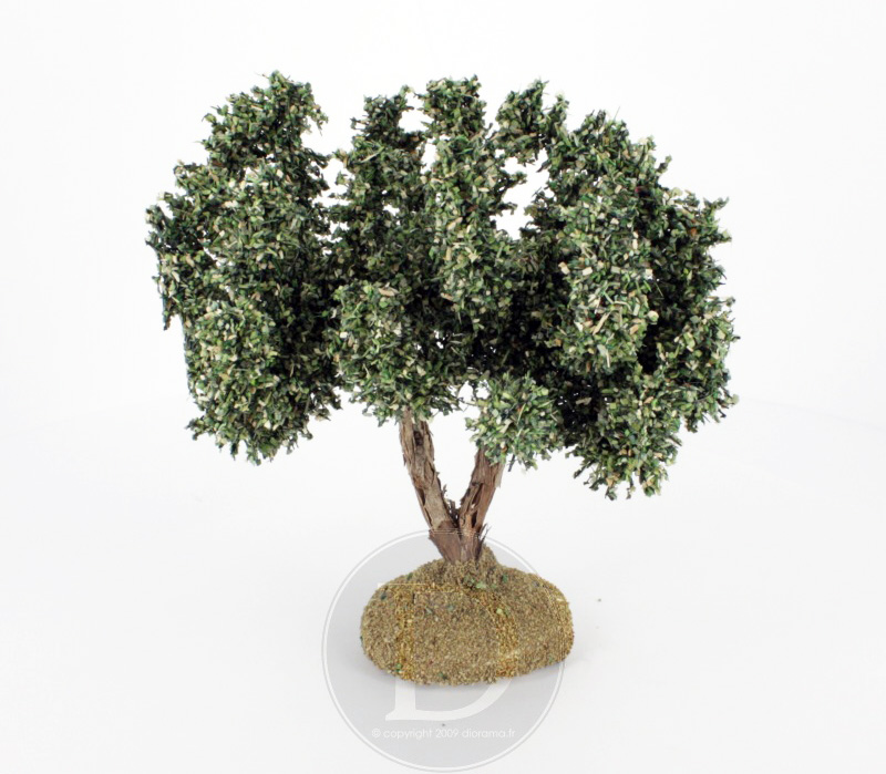 Olivier miniature sans olives pour crèches provençales 15 cm