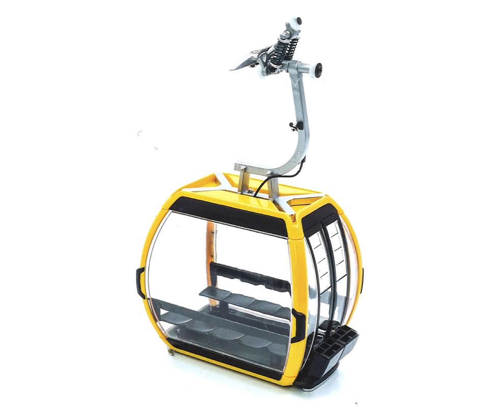 Télécabine oméga Doppelmayr V 10 jaune pour téléphérique miniature - JC 88502