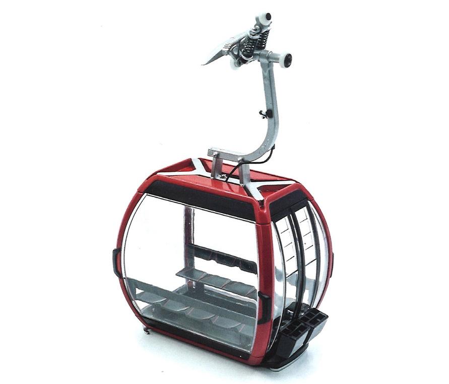Télécabine oméga V 10 rouge pour téléphérique miniature - JC 88501