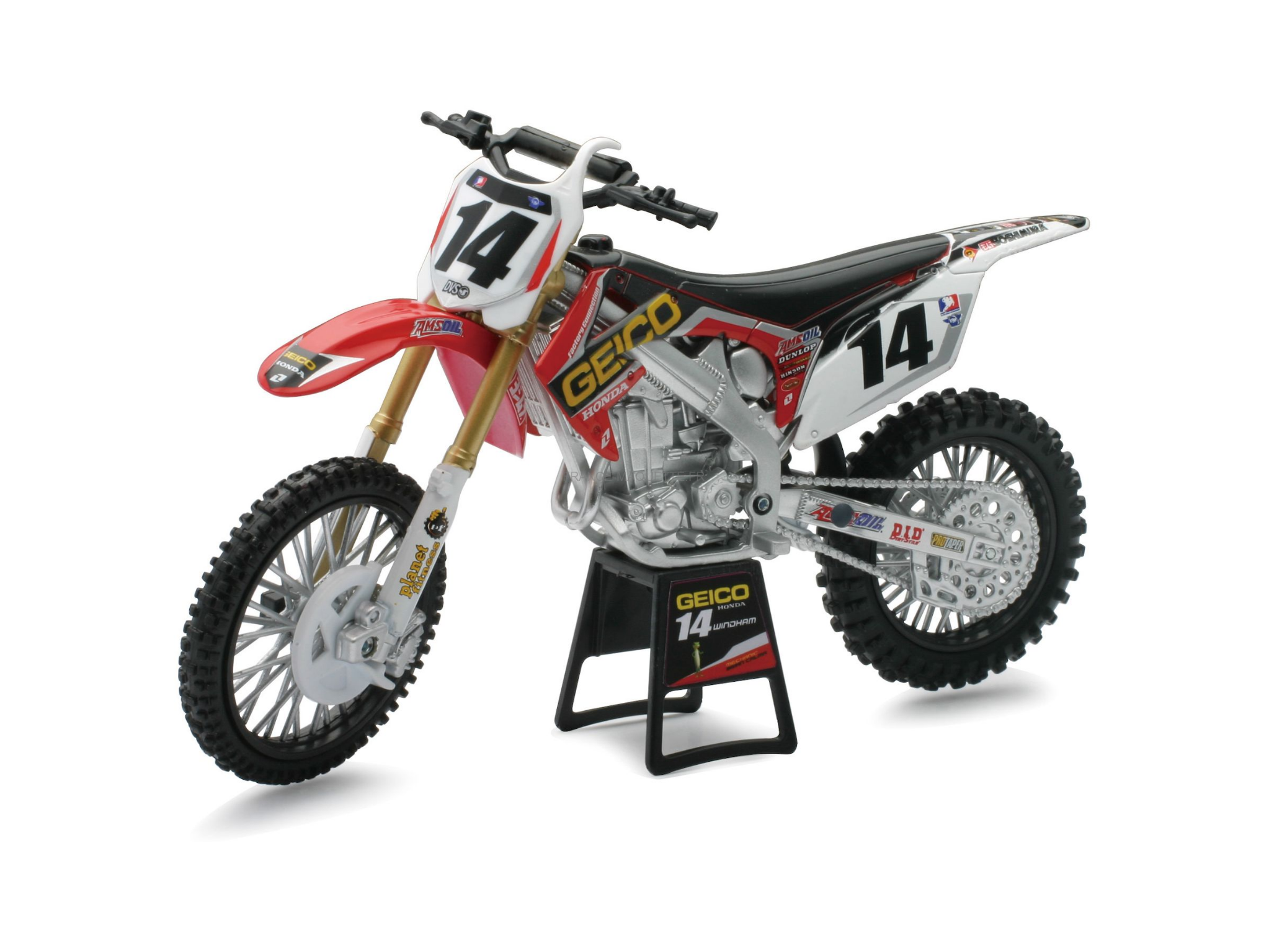 Miniature : Moto Cross Asst. roues libres - 1/12 - New Ray 42453