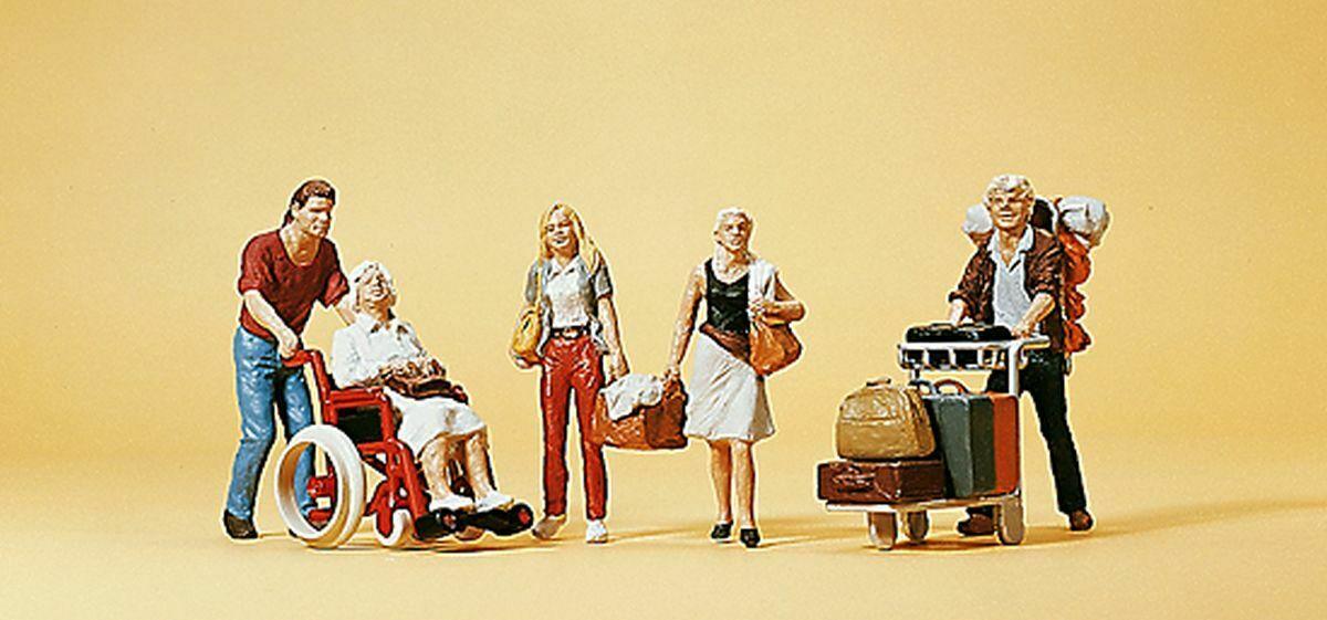 Figurines en plastique - Voyageurs 1:87 H0 - Preiser 10470