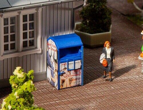 Conteneur à vêtements usagés bleu - 1:87 H0 - Faller 180992
