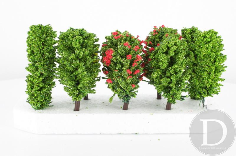 JORD-7 - 10 arbres feuillus 5.5 cm  1:160