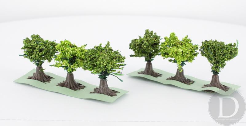 JORD-9 - 6 arbustes fleuris 3 cm 1:87