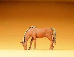 Preiser 47023 - Cheval qui broute 1:25