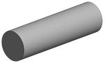 Tubes ronds pleins en plastique - Evergreen - Longueur 350 mm