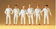 Preiser 65337 - Mécaniciens en tenue blanche bleue ou orange 1:43 - 1:45