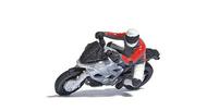 Personnages miniatures - Motard en courbe - 1:87, HO - Busch 7940