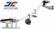 Télécabine et télésiège -JC- miniature électrique Deppelmayer - Omega IV - 1 gare noir bleu gris - JC-84394-5653