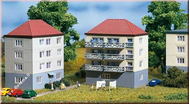 2 immeubles miniatures 1:160