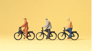 Preiser 74011 - Cyclistes miniatures 1:100