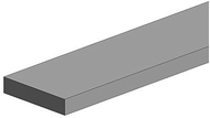 Evergreen 117 - Polystrips 10 pièces - 350 x 0,38 x 4,00 mm