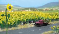 Busch 6003 - 60 Tournesols - Fleurs miniatures 1:87 - HO
