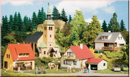 Petit village miniature - kit de base 1:87, 1:120