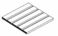 Tubes plaques polystyrols profilés - Evergreen 4040 - Plaque 1 pièce - 150 X 300 X 1 mm - 1 mm